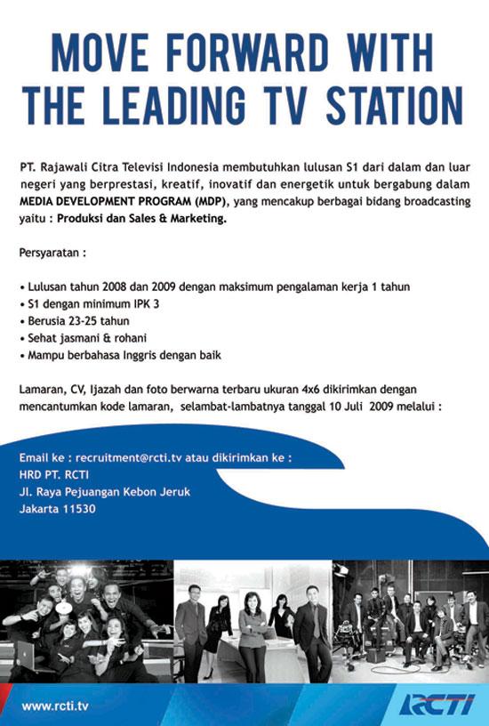 Image Result For Lowongan Kerja Rcti